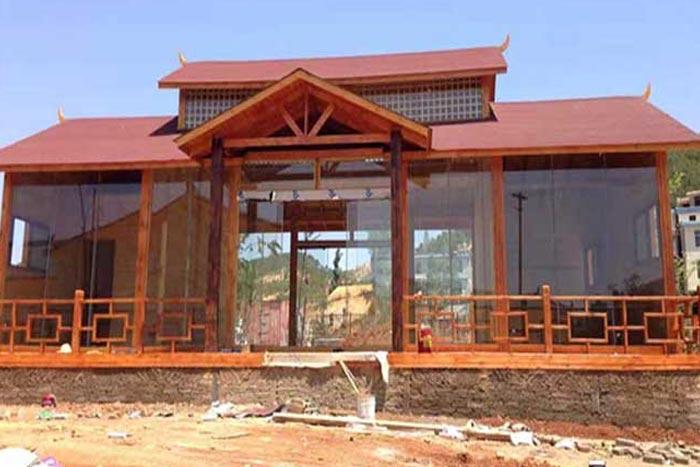 景区玻璃耐候钢板景观房